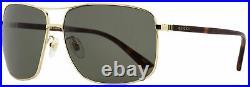 Gucci Rectangular Sunglasses GG0065SK 004 Gold/Havana 66mm 0065