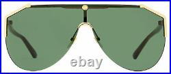 Gucci Shield Sunglasses GG0584S 002 Gold/Havana 99mm 0584