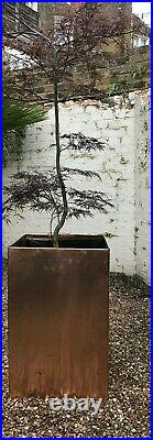 Hand made flower pots, Copper, Bronze, zinc, stainless, aliminum, coated steel