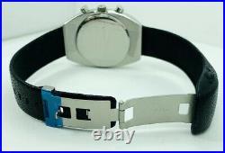 Kenneth Cole KC1207 Tonneau-Barrel Case Silver White Dial Black Strap Watch