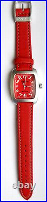 LOCMAN CLASSIC BARREL-SHAPED SPORT WATCH Model 488 RED. NEW, Made in Italy