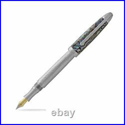Laban Abalone Fountain Pen Lined Barrel With Abalone Cap Fine Point NEW