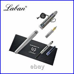 Laban Abalone Fountain Pen Lined Barrel With Abalone Cap Medium Point NEW