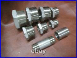 Lot of 27 x Stainless Steel 316 Pipe Fittings Hex Bush, Coupler Barrel Nipple