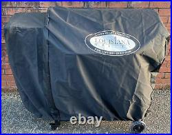 Louisiana Grills LG900C2 Barrel Wood Pellet BBQ Grill And Smoker + Shelf + Cover