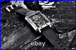 Luxury Fashion Rectangular Men's Watch Bersigar Mens Watches Barrel Type Quartz