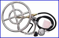 METER STAR LP Propane Gas Fire Pit Stainless Steel Burner Ring Installation Kit
