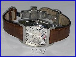 Mens Perrelet Barrel Stainless Steel Automatic Watch
