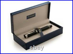 Montegrappa Ducale Black Resin Barrel and Stainless Steel Trim Rollerball Pen