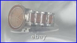 NWOT ORIGINAL GRAIN OG-10-002-WD MAHOGANY BARREL Brushed Stainless Steel Watch