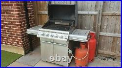 Napoleon LE3 BBQ Grill, Gas Charcoal, I fared Sizzle Zone Rotisserie