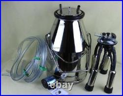 New 304# Stainless Steel Portable Cow Milker Milking Bucket Tank Barrel eb
