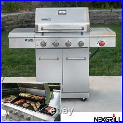 Nexgrill Deluxe 4 Burner Stainless Steel Gas Barbecue + Side Burner + Cover