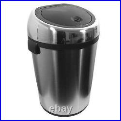 Nine Stars 17 Gallon Barrel Shape Stainless Steel Touchfree Trash Can