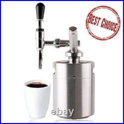 Nitro Cold Brew Kit Coffee Maker Mini Home Kegerator Stainless Steel Keg Growler