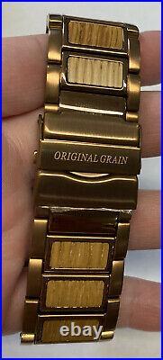 Original Grain 47mm Watch Men's Whiskey Barrel Espresso Brown New In Box Nice