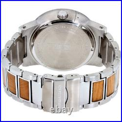 Original Grain Burlwood Barrel Quartz Black Dial Men's Watch OG10008