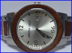 Original Grain Wood Backer Collection 47MM Analog Watch