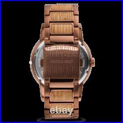 Original Grain Wood Barrel Collection 47MM Analog Watch