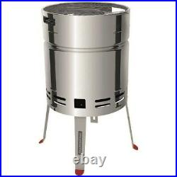 Outdoor Charcoal Barbecue Stand / Stainless Steel Barrel BBQ Grill