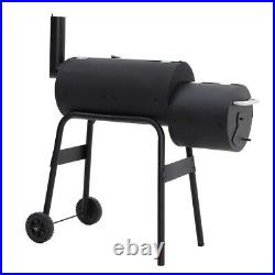 Outdoor Charcoal Barrel BBQ Grills 2 Burners Stove Offset Smoker Picnic Barbecue