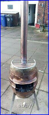 Outdoor log burner fire Stainless Steel