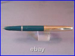 Parker Vintage 21 Dark Green barrel Gold Cap Set-fine point