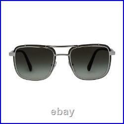 Prada Square Sunglasses PR59US 1BC4K1 Silver 59mm 59US