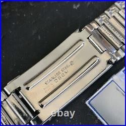 Rare 20mm Stainless Steel Barrel Link nos 1970s FS German Vintage Watch Band