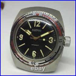 Rare Watch Vostok Barrel NVCh 30 ATM 300M Amphibian 2209 USSR Vintage Soviet
