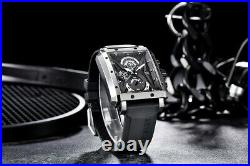 Rectangular Watch Men's Barrel Quartz Fashion Luxury Sports Waterproof for Men