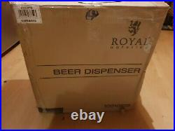Royal Catering Beer Dispenser Beer with Cooling For All 5L Barrels opened unused