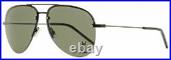 Saint Laurent Pilot Sunglasses Classic 11 M 001 Matte/Shiny Black 59mm YSL