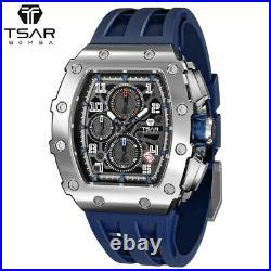 TSAR BOMBA 8204Q Mechanical Watch Seiko VK67 Movement Limited Barrel