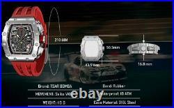 TSAR BOMBA Mechanical Watch Seiko VK67 Movement Limited Barrel TB-8204Q
