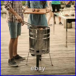 Tramontina Churrasco Charcoal Grill Barbeque BBQ Stainless Steel With Bucket