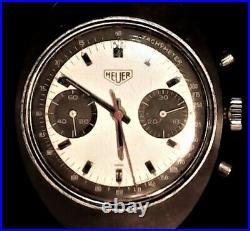 Vintage Heuer Chronograph Pre-Carrera Stainless Steel Ref. 73373 S, ca. 1971