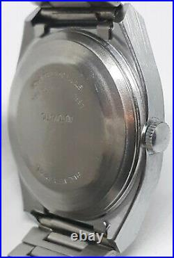 Vintage Timex ALL Original Mens Automatic Viscount Silver Barrel Watch MINT LOOK