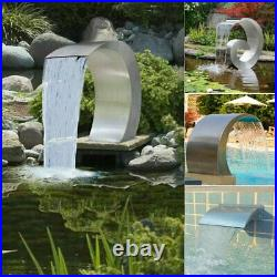 Waterfall Pool Fountain Stainless Steel Outdoor Decor Pond Cascade Hardware