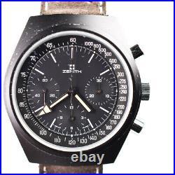 Zenith Prototype 146HP 1970s PVD Aluminum 41MM Chronograph Tonneau Barrel
